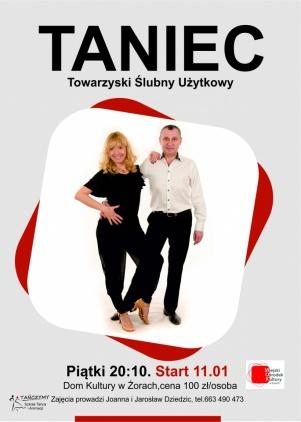 Kurs tańca towarzyskiego start 11 stycznia Kliknięcie w obrazek spowoduje wyświetlenie jego powiększenia